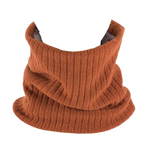 Unisex Winter hiking cycling Scarf with Faux Fur knit Neck Warmer Chunky Soft Thick Circle Loop Scarves for Woman Man - O,J1