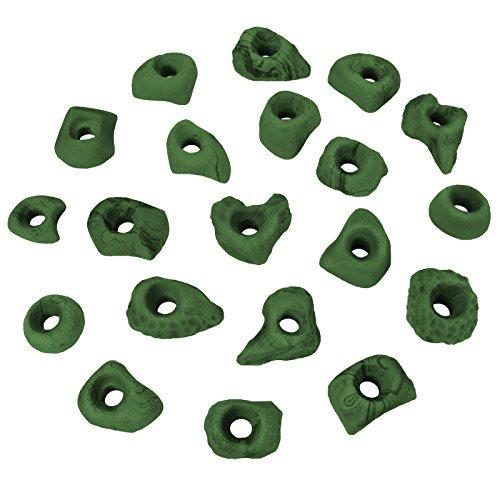 ALPIDEX Klettergriffe Klettersteine Tritte Größe S - 20 oder 40 Stück, Farbe:grün-meliert, Verpackungseinheit:20 Stück