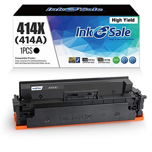 [NO CHIP] INK E-SALE Black 1-Pack Compatible Toner Cartridge Replacement for HP 414X M454dw M479fdw Toner for HP Color Laserjet Pro M454dw M454 M454dn MFP M479fdw M479 M479fdn Toner Printer Ink