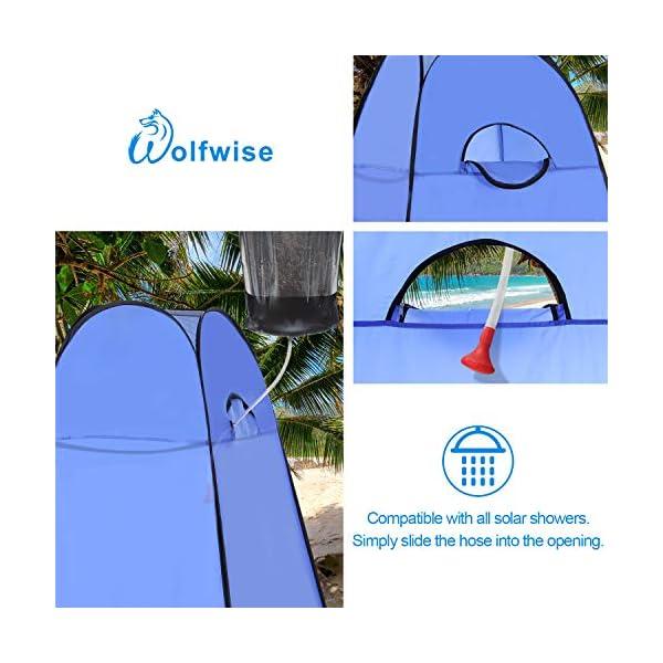 WolfWise Tienda de Campaña Tent Abrir Cerrar Automáticamente Pop Up Portable Sirve para Camping Playa Bosques Zonas de montaña Ducha Aseo Carpas 1
