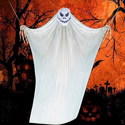 Vohoney Halloween Deko Hängend Deko Halloween Tür Deko Gespenst Geist Gruselig Hängend Türvorhang Dekoration für Halloween Party Deko (Weiß Halloween Deko)