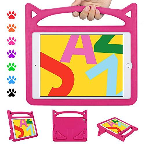 "ipad 10.2 Case 2019, ipad 7th Generation Case for Kids, Ubearkk Shockproof Light Weight Handle Stand Kids Friendly Case for ipad 10.2 7th gen 2019/ipad Pro 10.5""/ ipad Air 3 10.5""(Pink)"