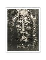 トリノの聖骸布 - トリノの聖骸布 - 聖骸布 - トリノ聖骸布のリバース写真乾板 - ビンテージな宗教的なアート によって作成された セコンド・ピア c.1898 - アートポスター - 23cm x 31cm