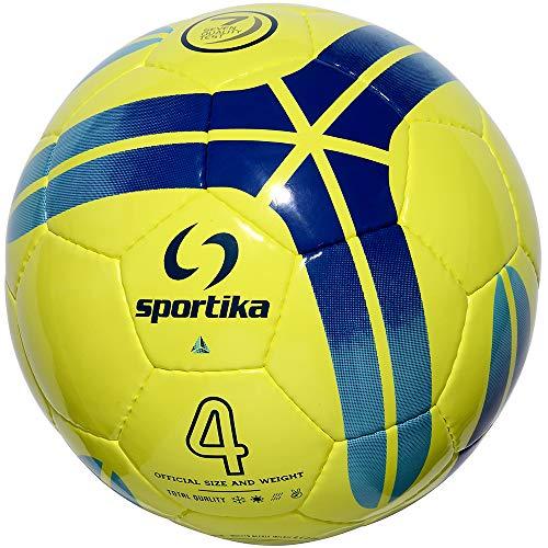 Balón Futsal de fútbol de 5 Diamond Amarillo Fluorescente de Rebote reducido