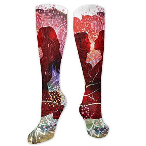zhouyongz Pareja practicando Tantra Yoga Personalidad Diversión Patrón Calcetines de Moda Calcetines...