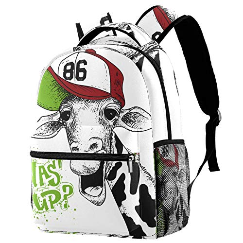School Bags for Girls Boys,Resistant Durable Casual Basic Backpack for Students Cows