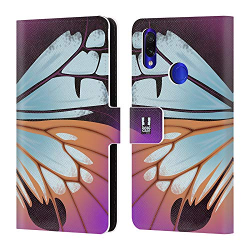 Head Case Designs Parantica Sita Illustrated Butterfly Wing Leather Book Wallet Case Cover Compatible for Xiaomi Redmi Note 7/7 Pro