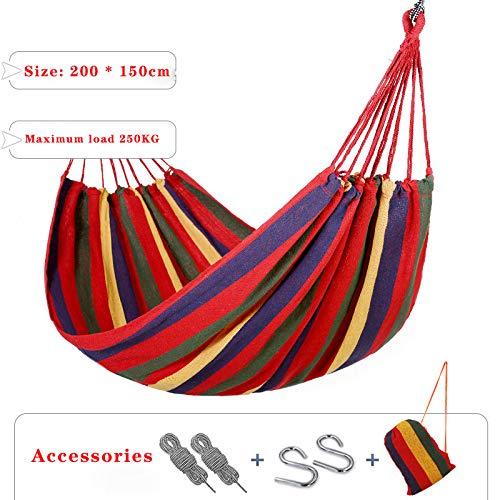 ZCXBHD Draagbaar voor 2 personen, voor buiten, camping, tuin, strand, reizen, linnen, hangmat, gemakkelijk om het bed buitenshuis op te hangen, camping, swing