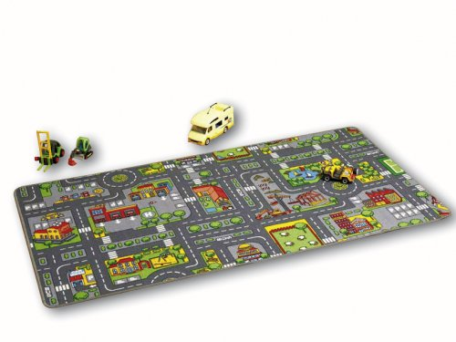 Unbekannt Meubinex 52029406 - Spielteppich City 100 x 190 cm