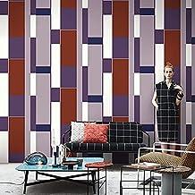 Special/Simple Non-Woven Striped Plaid Wallpaper Living Room Bedroom Wallpaper Plain Gray (Color : Tc1703/Edo Purple, Size...