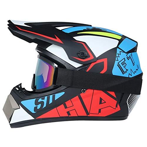 Product Image 6: Senhill Motocross Helmet Offroad Helmet DOT/FMVSS 218 Approved Dirt Bike ATV Motorcycle Helmet with Gloves Goggles Mask