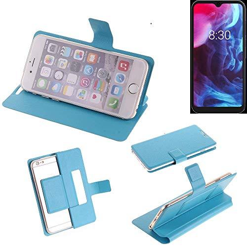 K-S-Trade Flipcover Für Archos Oxygen 63 Schutz Hülle Schutzhülle Flip Cover Handy Hülle Smartphone Handyhülle Blau
