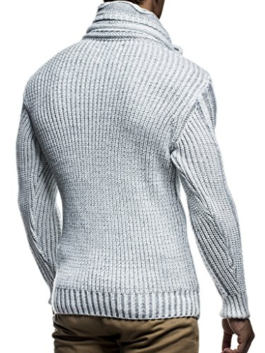 Leif Nelson men's knitted pullover jumper sweater hoodie long sleeve slim fit LN5195