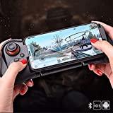 Lihgfw Mobile Controller, Mobile Game Controller for PUBG, Android Game Controller for Android/iOS, Wireless Remote Controller Gamepad, Mobile Gaming Controller Supports Mobile Key Mapping