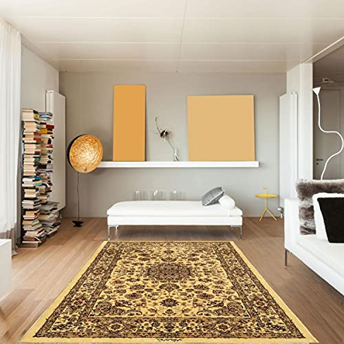 Prestige aklim in polipropilene, per Dezenco, tappeto moderno, beige, 80 x 140 cm