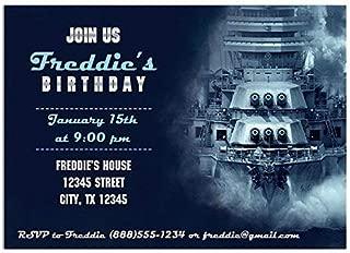 Battleship Birthday Party Invitations