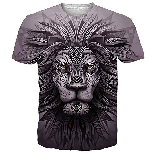 UNIFACO Camisetas 3D para hombre de manga corta casual de verano camisetas deportivas personalizadas