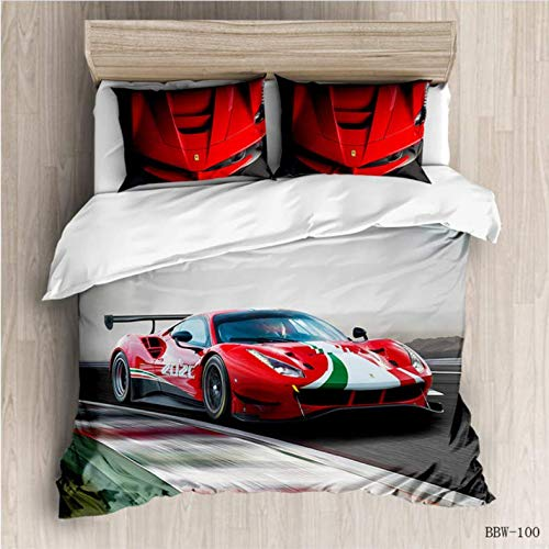 NTT Duvet Cover 3D Bed Motorcycle Racing Bedding Set King Size Duvet Cover Sets Single Kids Bedding For Children Adult Comforter Set 150 * 200Cm