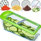 LHS Mandoline Slicer - Vegetable Slicer Dicer Cutter Grater and Shredder - Kitchen Heavy Duty Food Slicer Veggie Slicer with 4 Blades, Slicer for Fruits and Vegetables