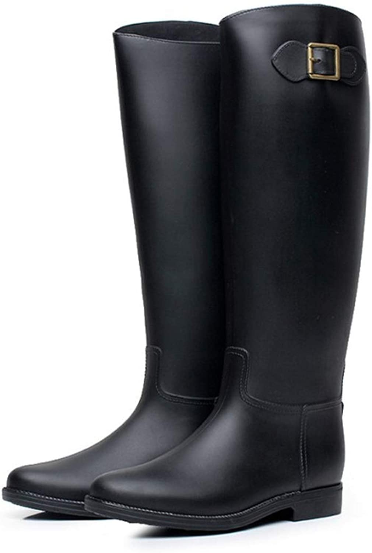 MINIKATA Women Half Calf Ankle Rubber Rainboots 2 color Waterproof Boots for Garden Rain Round Toe Rainboots