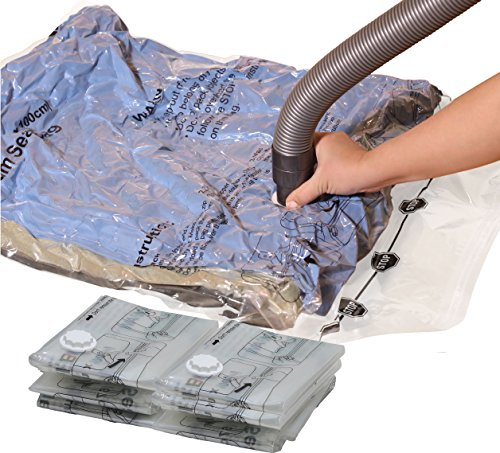 Simple Houseware 6 Jumbo Vacuum Storage Bags to Space Saver for Bedding