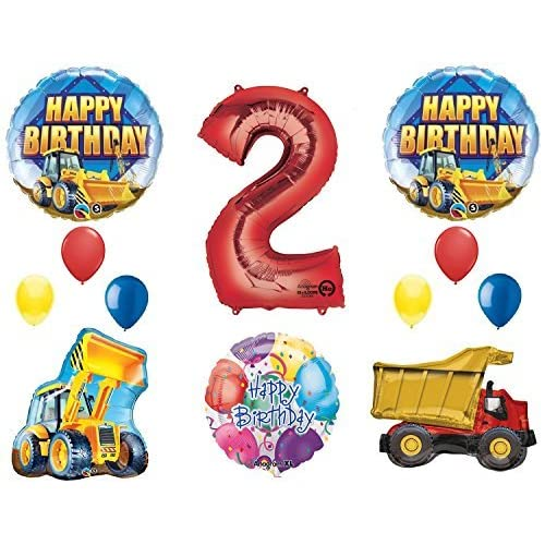 The Ultimate Construction 2nd Birthday Party Supplies And Balloon Decorations