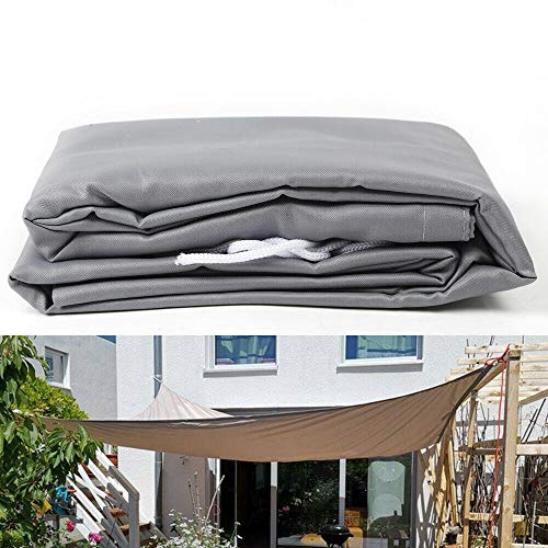 TFCFL - Toldo parasol para jardín y balcón, resistente al viento e impermeable, rectangular, color gris claro