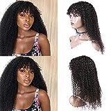 Ur Beautiful 8A pelucas de pelo humano rizado curly wigs curly human hair wigs no lace front pelucas rizado brasileñas natural color 20 pulgadas