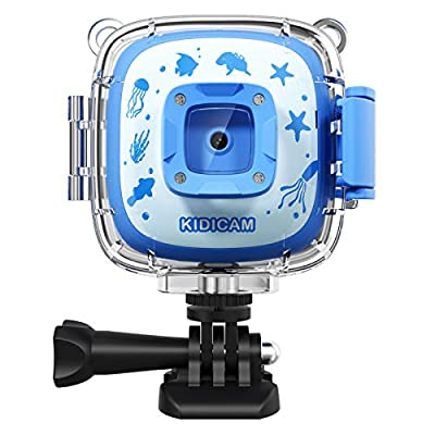 Dragon Touch Kidicam 2.0 Kids Action Camera, Waterproof Digital Camera for Boys Girls 1080P Sports Camera Camcorder with 16GB Memory Card from Dragon Touch