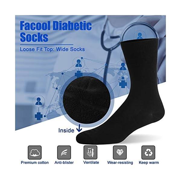 buy  Facool Diabetic Socks for Men Women, Dress ... Diabetes Care