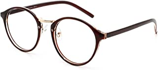 Cyxus filtro luce blu occhiali rétro tondo telaio [ceppo anti-occhio] Anti affaticamento della vista ottimo per computer/g...