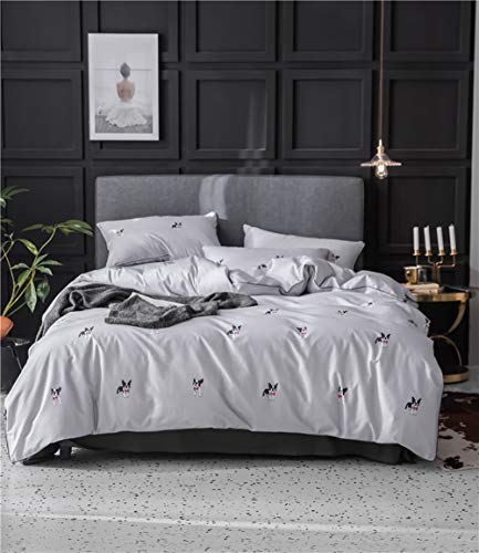 MEVIDA Solid Color Egyptian Cotton Duvet Cover Bedding Set High Thread Count Long Staple Sateen Weave Silky Soft Breathable Quality Bed Linen C Queen