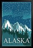 Poster Gießerei Alaska Land der Midnight Sun Retro Reise