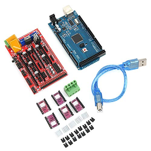 3D Printer Kits, PCB Smart Display Controller & Chip Board & Connecting Lines & CH340 8825 Driver & USB Cable Sutibale for Arduino Reprap, 3D Printer Set