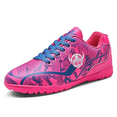 Fussballschuhe Kinder 31 Kunstrasen Mädchen Fußballschuhe FG/AG Low Top Fussball Schuhe Outdoor Football Shoes Trainingsschuhe für Unisex-Kinder Pink