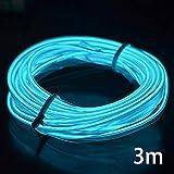 EL Wire - Tira de luces LED para coche, 12 V, flexible, neón