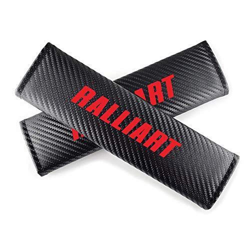 Paquete De 2 Almohadillas Para CinturóN De Seguridad De AutomóVil Para Mitsubishi Ralliart Protector De CinturóN De Seguridad Para AutomóVil Almohadilla De Hombro Con Efecto De Fibra De Carbono