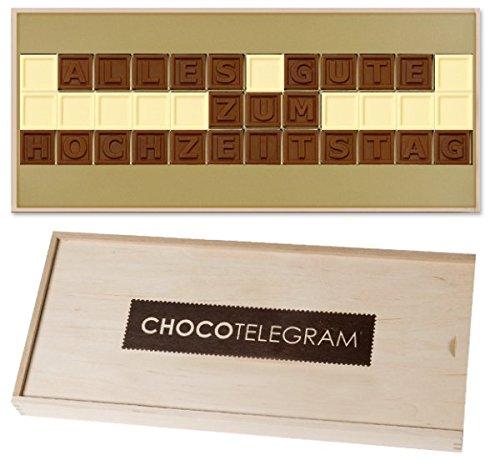 ALLES GUTE ZUM HOCHZEITSTAG - ChocoTelegram | Schokolade Premium Qualität | Geschenke für paare | Paar | Mann | Frau | Geschenk zur Hochzeit | Hochzeitsgeschenke für Brautpaar