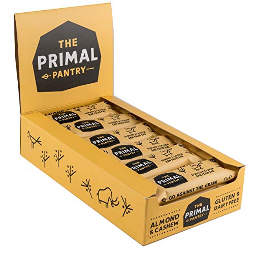 The Primal Pantry Energieriegel (Mandel & Cashew) - - köstlicher Fruchtriegel - Nussriegel - ohne Zuckerzusatz, vegan, laktosefrei, weizenfrei und glutenfrei