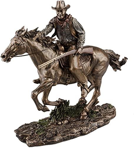 Bronze Screen Legend Riding Cowboy - John Wayne