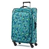 Atlantic Luggage Atlantic Ultra Lite Softsides 25' Expandable Spinner, lulu green, Checked Medium