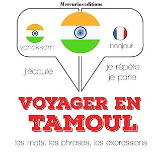 Couverture de Voyager en tamoul, 300 mots phrases et expressions essentielles et les 100 verbes les plus courants