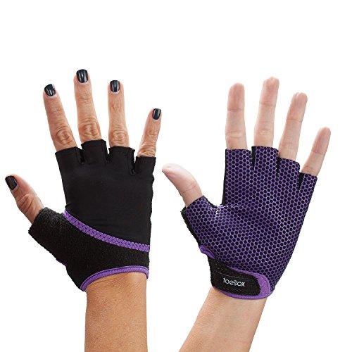 Fitness Mad ToeSox Glove Yoga & Pilates Grip Guante, Unisex Adulto, Morado Claro, Small