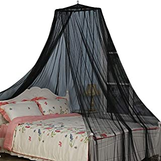 South To East King Size Bed Canopy, Black Color Mosquito Net for Indoor/Outdoor, Camping or Bedroom Fit A King Size Bed, Made by Fire Retardant Fabric