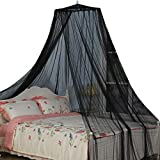 King Size Bed Canopy, Black Color Mosquito Net for Indoor/Outdoor, Camping or Bedroom Fit A King Size Bed, Made by Fire Retardant Fabric