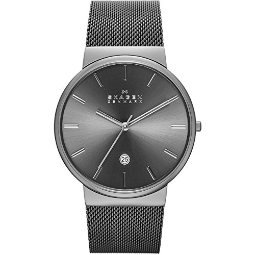 Skagen Men's Ancher Quartz Stainless Steel and Mesh Watch Color: Gray, (Model: SKW6108)