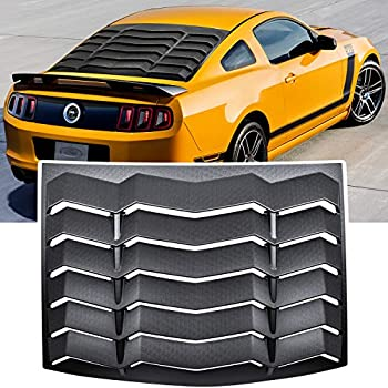 E-cowlboy Rear Window Louver Windshield Sun Shade Cover GT Lambo Style for Ford Mustang 2005 2006 2007 2008 2009 2010 2011 2012 2013 2014  ABS Matte Black