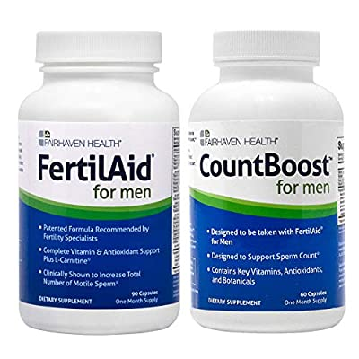 FertilAid for Men and Countboost Combo (1 Month Supply) by Fairhaven Health