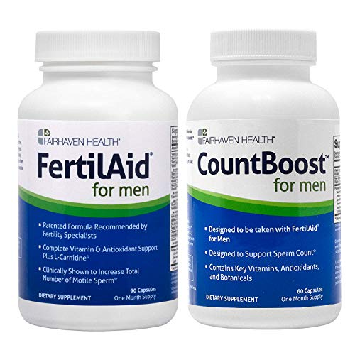 New FertilAid for Men and Countboost Combo (1 Month Supply)