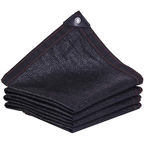 JQQJ Sonnensegel Rechteckig 90% Sun Mesh Shade Cloth, Leichte Pergola-Abdeckung, Kanten Mit UV-beständigen Ösen Für Gartenabdeckung Maschenschatten (Color : Black, Size : 16.5x33ft/5x10m)